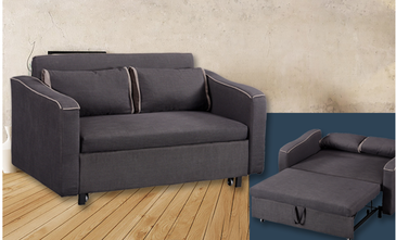 Legend sofa bed dark grey